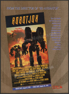 ROBOT JOX__Original 1991 Trade Print AD / ADVERT __Stuart Gordon__Charles Band