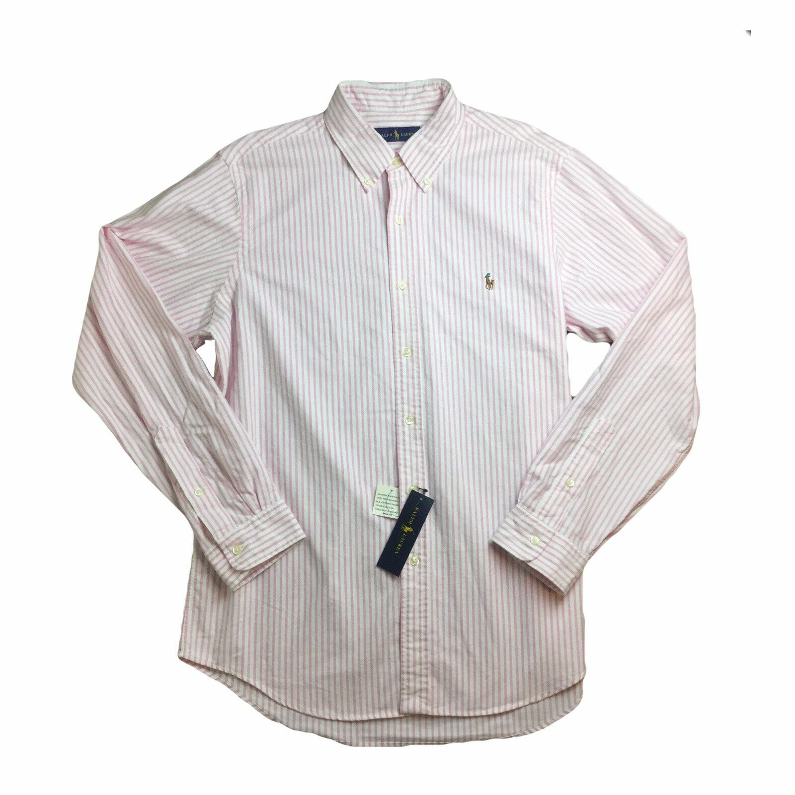 11f8ce3a8f7 Ralph Lauren Mens Button Down Oxford MEDIUM Pink Embroidered NWT ...