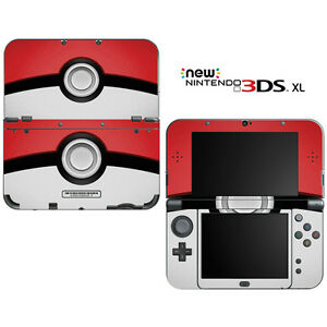 Pokemon pokeball for new nintendo 3ds xl skin decal cover for Housse 2ds xl pokemon