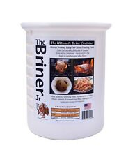 JR Briner BBQ Barbecue Brining Brine Bucket for Poultry, Pork & Seafood  8 Quart