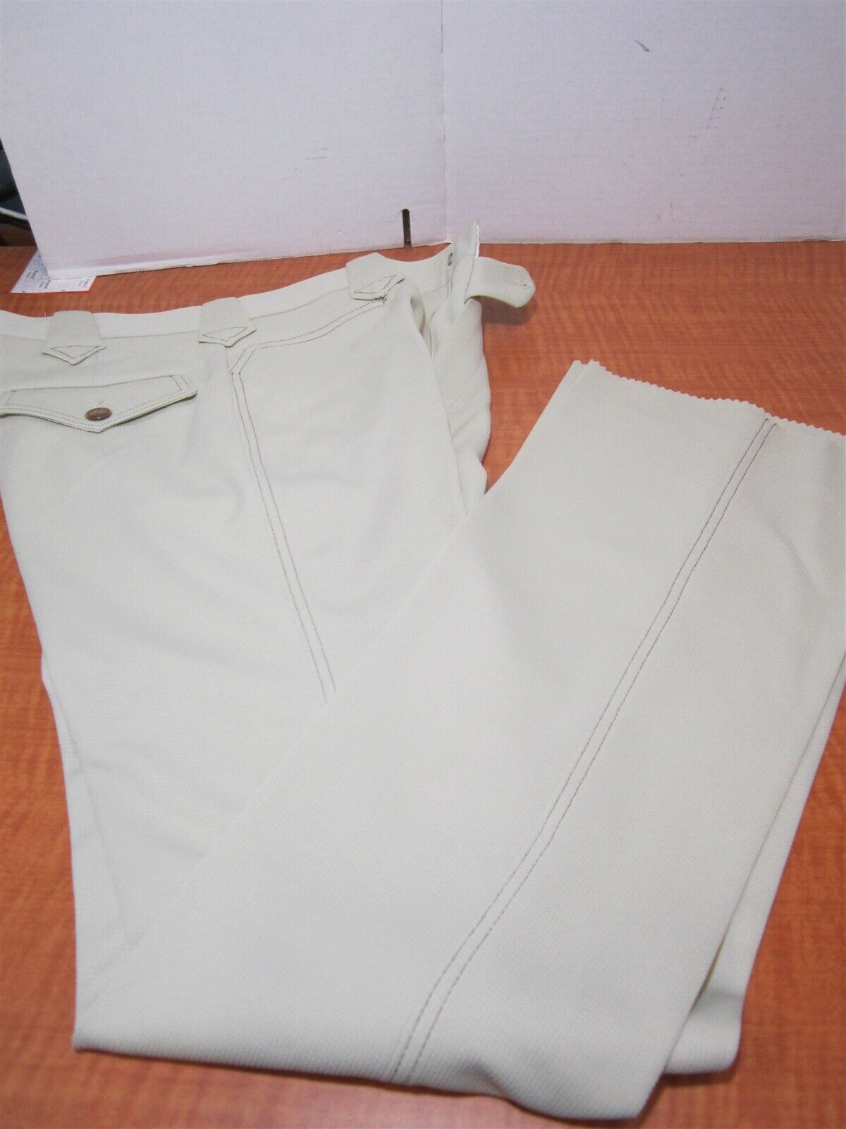 Lee Vintage Mens Beige Long Boot Cut Western Traditional Fit Jeans 32L USA MADE