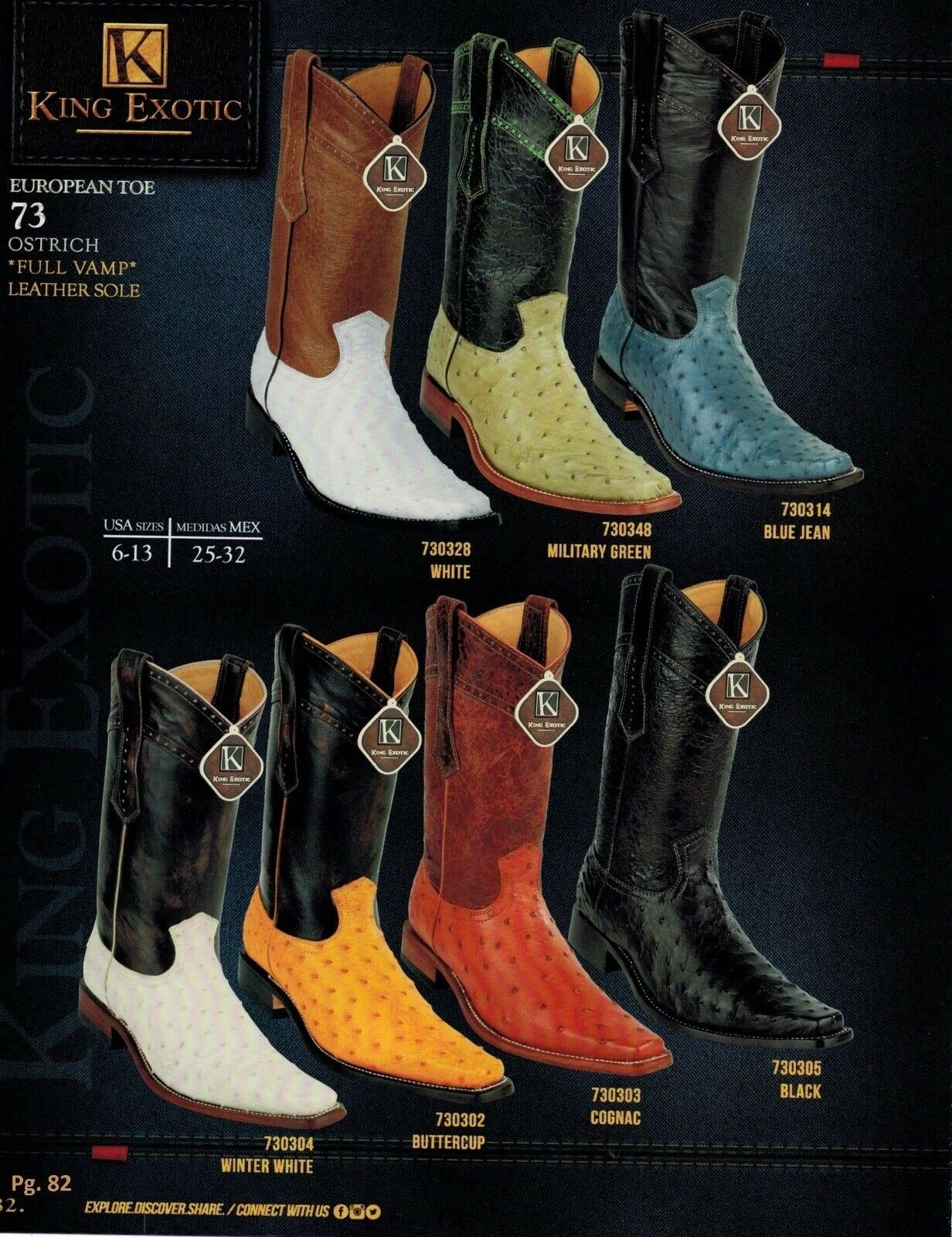 sports shoes f38d7 b5f65 King Exotic Men s European Toe Genuine Full Quill Ostrich Cowboy Western  Boots