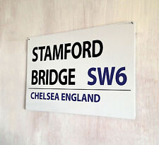 Stamford Bridge Chelsea Football street sign A4 metal plaque decor