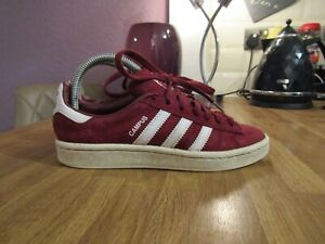 Adidas Originals Campus UK 3.5 EUR 36 Bordeaux Baskets-Art BZ0087