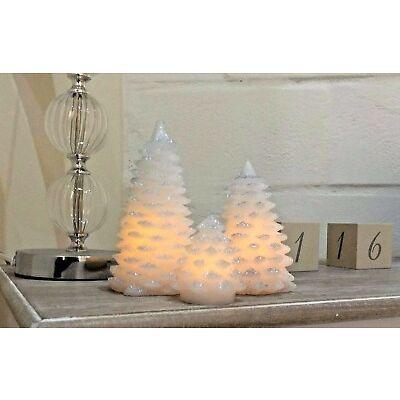 3 UDS Iluminación Acrílico árbol de Navidad Adornos ABRIR Y CERRAR LED