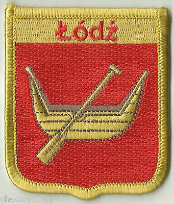 LODZ FLAG WORLD EMBROIDERED PATCH BADGE