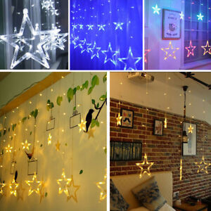 Image Is Loading 138 Led Fairy Lights Curtain Net Wall Icicle