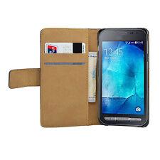 Pelle NERA Wallet Flip Custodia Cover Marsupio Per Samsung Galaxy Xcover 3