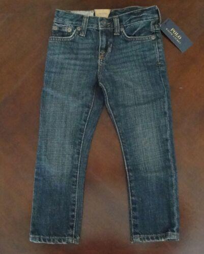 NWT Ralph Lauren Polo Boys Skinny Fit Warren Dark Wash Jeans Sz 16 20 $50 NEW