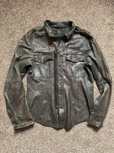 All Saints ENEMY Leather Shirt Jacket Size Medium EXCELLENT CONDITION!!