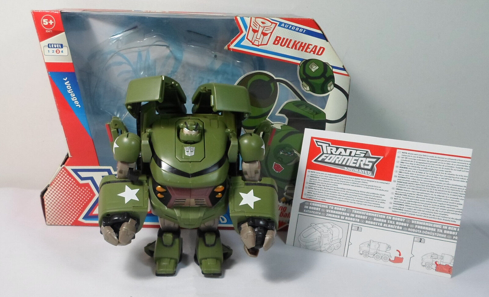 HASBRO 2008 TRANSFORMERS ANIMATED BULKHEAD VOYAGER 100% COMPLETE ROBOT BOXED