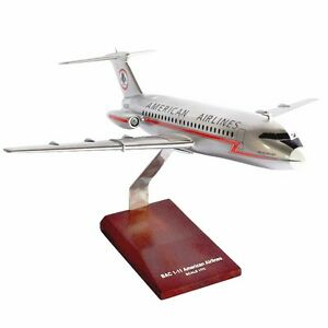 American-Airlines-BAC-1-11-Lightning-Bolt-Desk-Display-1-72-Model-MC-Airplane