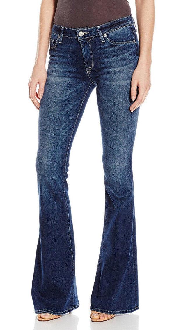 Hudson Jeans Mia Midrise 5 pkt Flare Bloc Med Wash Jeans  198