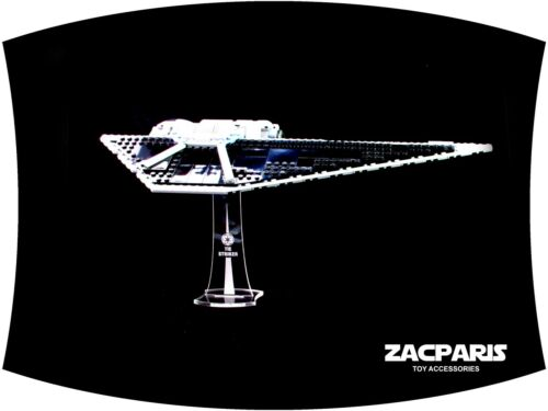 Clear acrylic Very Nice! DISPLAY STAND for Star Wars Lego 75154 Tie Striker