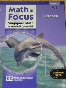 Details about Math in Focus Singapore Math Reteach Common Core Course 3A  Workbook 8th Grade 8