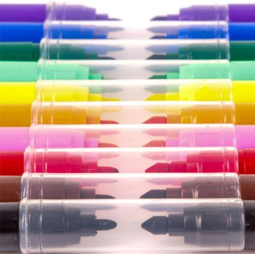 20 Plumas Fina /& Punta de Fieltro grueso Consejos Marcadores De Color Tinta Arte Dibujo Colorear Niño