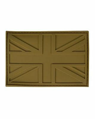 Military Morale Subdued Union Jack Flag Rubber Patch - COYOTE TAN - Airsoft