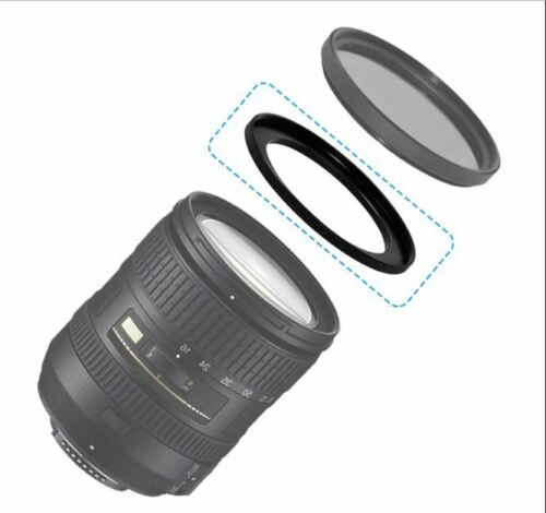 Rise UK 52-55mm Step-Up Lens Filter 52mm to 55mm Adapter Ring