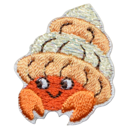 "Hermit Crab Applique Patch Iron on Ocean Tropical Badge 1-1//4/"""