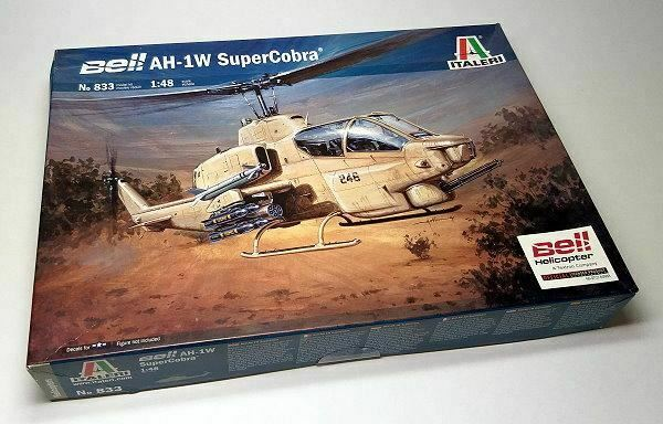 ITALERI Helicopter Model 1//48 Bell AH-1W SuperCobra Scale Hobby 0833 T0833