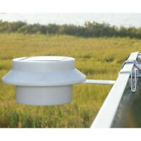 Led Solar Gutter Utility Security Light White Water Resist Includes Battery