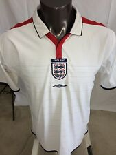 Official England Umbro soccer jersey men's white Olympics World Cup Size Large