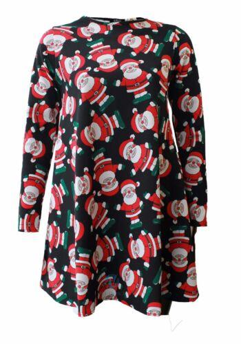 Kids Girls CHRISTMAS Swing Dress Santa Snowman Rudolph Xmas lot Skater Dress