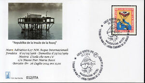 Isola-delle-Rose-busta-FDC-26-07-2014-Mostra-Berceto-francobollo-riprodotto