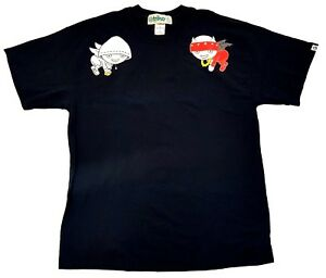 Vintage-Triko-Conscience-Angels-Demons-Reflective-Tee-Black-Size-XL-Mens-T-Shirt