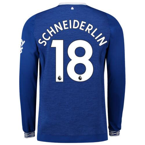 Everton Offiziell Heim Shirt 2018-19 Herren Langarm Umbro Fußball Trikot Blau