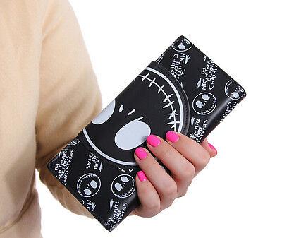 lot nightmare before Christmas black cartoon Children's wallet Fold purses bag
