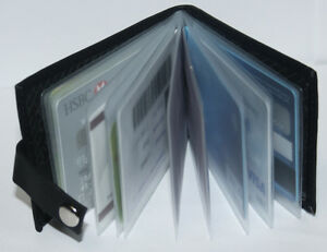 New-Flip-Design-Black-Soft-Leather-Mens-Gents-Debit-Credit-ID-Card-Holder-Wallet