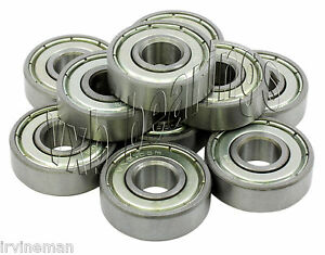 S684 4x9x2.5 Stainless Steel Open 4mm//9mm//2.5mm Deep Groove Radial Ball Bearings