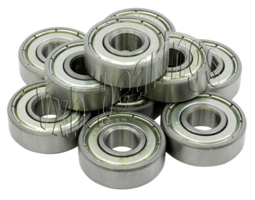 "Lot 10 Bearings R188 ZZ Ball Bearing 1//4/"" x 1//2/"" R188Z"