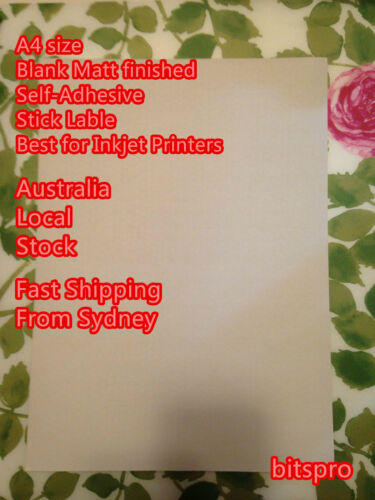 5 NEW A4 blank Matt White self adhesive Sticker Label Inkjet printer CLEARANCE