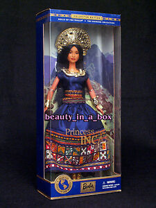 PRINCESS-OF-THE-INCAS-Dolls-of-the-World-Culture-Barbie-Doll-Native-American