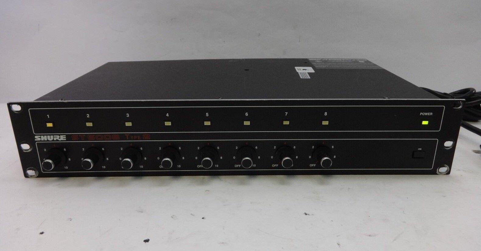 Shure ST6008 ST6008 ST6008 sistema de teleconferencia tipo 2, mezclador de expansión, 8 Channel Mic Mezclador 0bbe1d