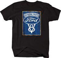 Tshirt -genuine Ford Parts V8 Blue Oval Vintage Sign