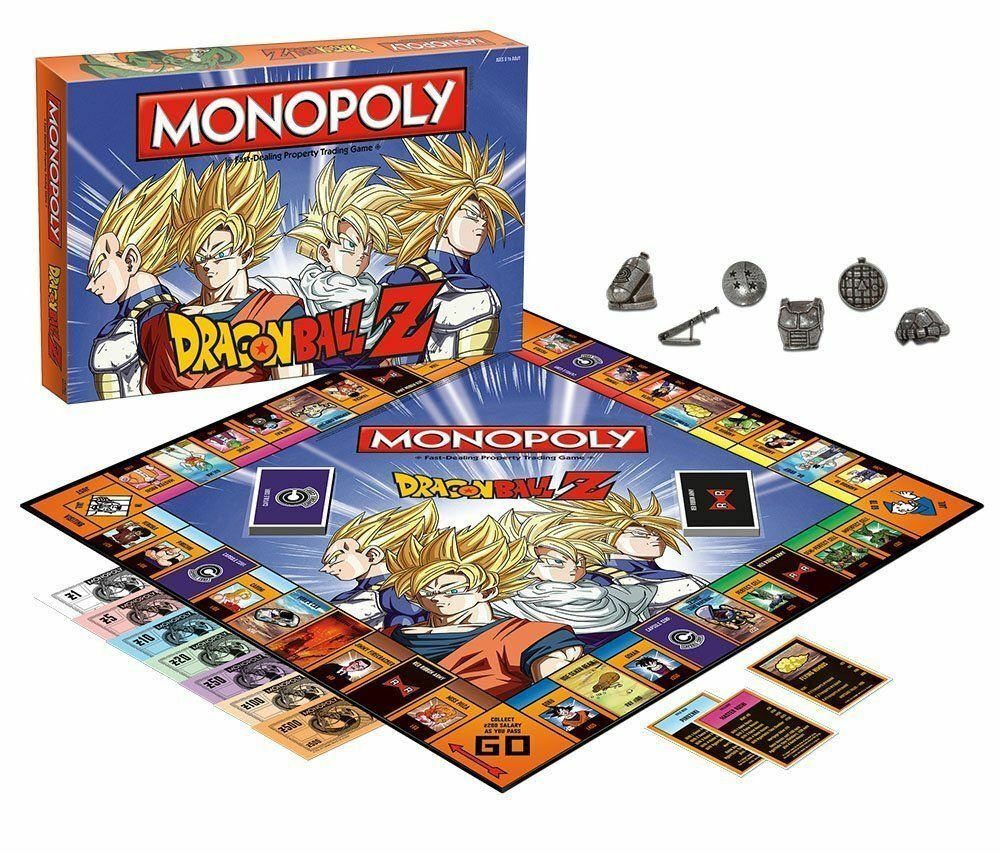 Dragonball z collector 's edition monopol brandneue 6 x metall token hasbro