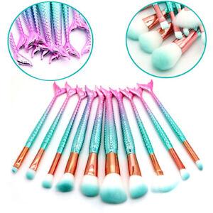 10pcs-Unicorn-Kabuki-Makeup-Brush-Set-Cosmetic-Foundation-Powder-Brushes-Tool