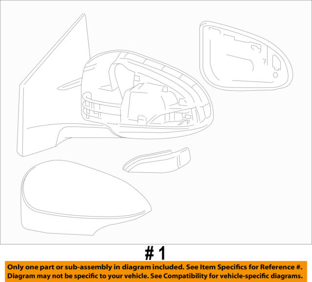 Genuine Toyota 87940-02F30-A1 Rear View Mirror Assembly