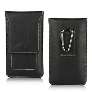 For-Sony-Xperia-XZ-Genuine-Leather-Black-Tradesman-Belt-Clip-Case-Cover-Pouch