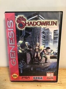SHADOWRUN-Sega-Genesis-Cart-with-case-tested-and-works-great