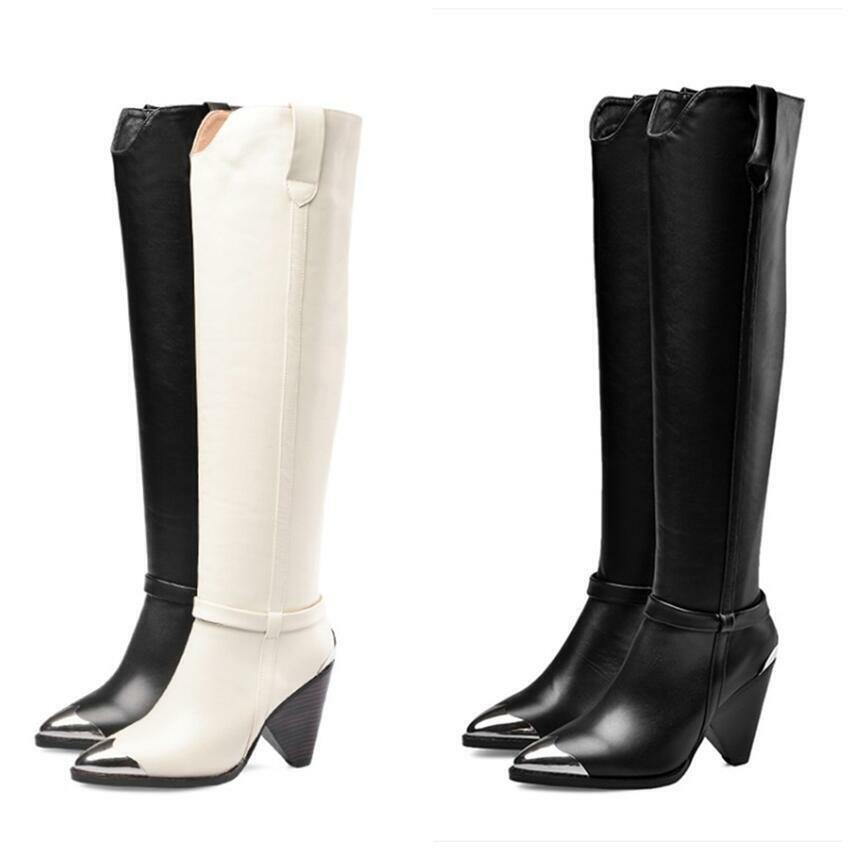 Original Kamel Damen Fransen Stiefel Wildleder stiletto heels Slouch-Stiefel 47