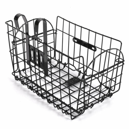 Foldable Bicycle Grocery Basket Bike Collapsible Front Rear Bar Storage Holder
