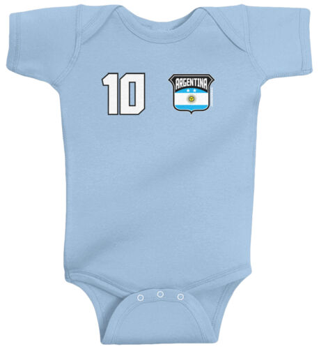 Threadrock Baby Team Argentina Soccer Infant Bodysuit World Cup Football