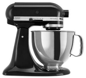 KitchenAid-Refurbished-5-Quart-Artisan-Tilt-Head-Stand-Mixer-Onyx-Black