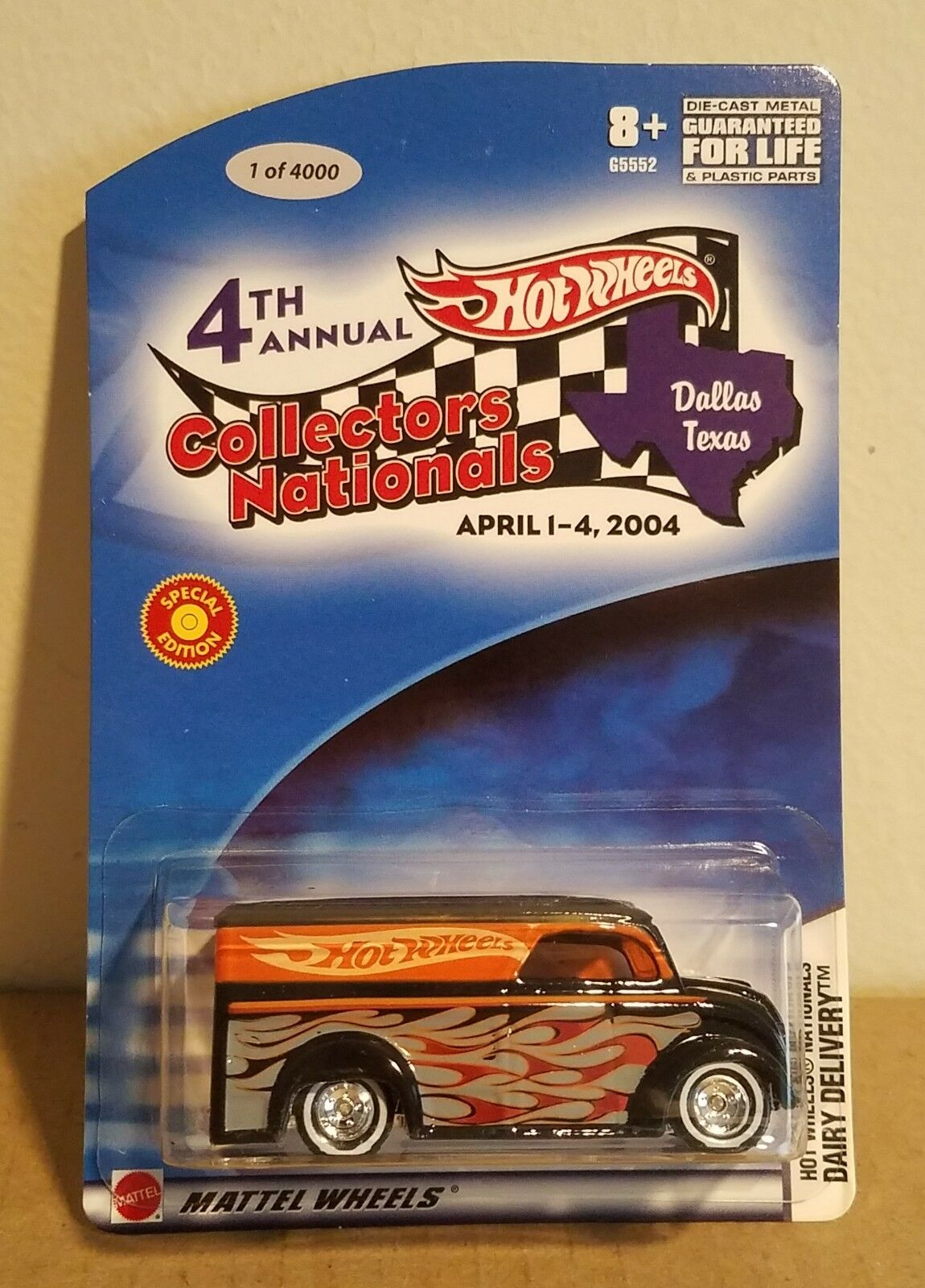 Hot Wheels Dairy Delivery 4th Collectors Nationals  Exclusive