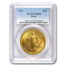 1907 $20 St. Gaudens Gold Double Eagle MS-63 PCGS