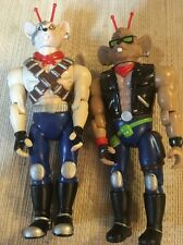 Biker Mice From Mars: 1993 THROTTLE And Vinnie Figure Lot Free Shipping